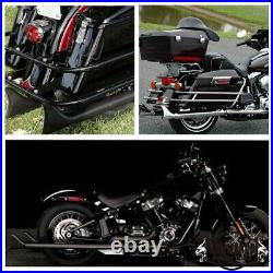 33 Length Fishtail Exhaust Pipe Slip Ons for Harley Touring Road King 1995-2016