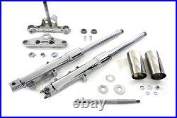 41mm Fork Assembly Chrome Stock Length Dual Disk For Harley-Davidson