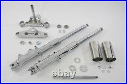 41mm Fork Assembly with Chrome Sliders Stock Length fits Harley-Davidson