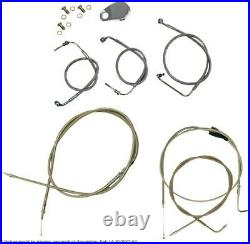 Beach and bagger bars length cable kit stainless steel hd HARLEY DAVIDSON S