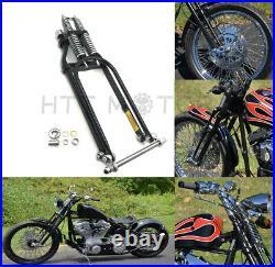 Black Springer Front End +2 Length For Harley Davidson Sportster Bobber Chopper
