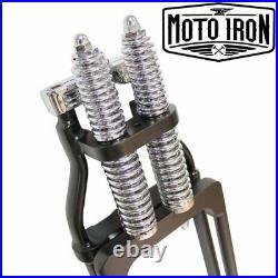 Black Springer Front End +2 Length Harley Davidson Sportster Bobber Chopper dna