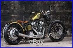 Black Springer Front End +2 Over Stock Length For Harley & Custom Bikes New