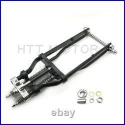 Black Springer Front End +2 Over Stock Length Wishbone For Harley & Custom Bike