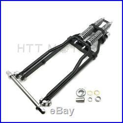 Black Springer Front End -2 Under Stock Length Wishbone For Harley & Customs