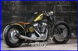 Black Springer Front End -4 Under Stock Length For Harley & Custom Bikes New