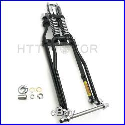 Black Springer Front End -4 Under Stock Length Wishbone For Harley & Custom New