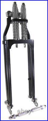 Black Wide Style Standard Length Springer Fork Front End For Harley Custom