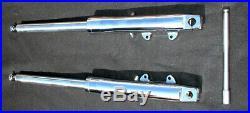 CHROME BILLET FRONT END TUBES LEGS STOCK LENGTH 41mm 34 FIT HARLEY WIDE GLIDE