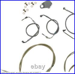 Cable kit 12-14 ape bar length stainless steel hd HARLEY DAVIDSON SOFTAIL
