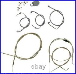 Cable kit 18-20 ape bar length stainless steel hd HARLEY DAVIDSON XL L LOW