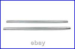 Chrom 35mm Gabel Rohr Set 23-1/2 Total Length For Harley-Davidson