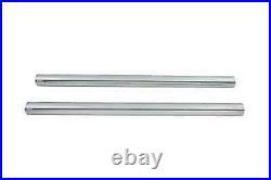 Chrom 39mm Gabel Rohr Set 23-3/8 Total Length For Harley-Davidson
