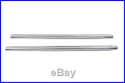 Chrome 35mm Fork Tube Set 23-1/4 Total Length For Harley-Davidson