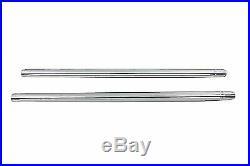 Chrome 35mm Fork Tube Set 23-1/4 Total Length for Harley Davidson by V-Twin