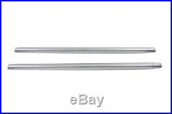 Chrome 35mm Fork Tube Set 25-1/4 Total Length, for Harley Davidson, by V-Twin