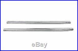 Chrome 35mm Fork Tube Set 27-1/2 Total Length for Harley Davidson by V-Twin