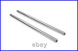 Chrome 35mm Fork Tube Set 27-1/4 Total Length fits Harley-Davidson