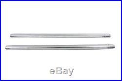 Chrome 35mm Fork Tube Set 31-1/4 Total Length, for Harley Davidson motorcycle