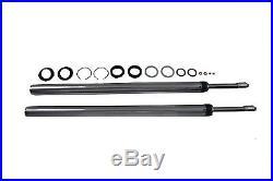 Chrome 39mm Fork Tube Assembly 23-3/8 Total Length, for Harley Davidson, by V