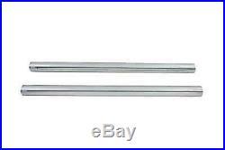 Chrome 39mm Fork Tube Set 23-3/8 Total Length For Harley-Davidson