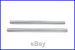 Chrome 39mm Fork Tube Set 23-3/8 Total Length, for Harley Davidson, by V-Twin