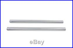 Chrome 39mm Fork Tube Set 29-3/8 Total Length, for Harley Davidson, by V-Twin
