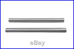 Chrome 41mm Fork Tube Set 20-7/8 Total Length, for Harley Davidson, by V-Twin