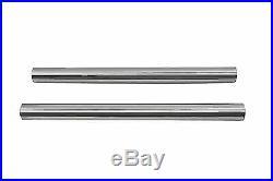 Chrome 41mm Fork Tube Set 22-7/8 Total Length for Harley Davidson by V-Twin