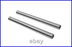 Chrome 41mm Fork Tube Set 22 Total Length fits Harley-Davidson