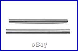 Chrome 41mm Fork Tube Set 22 Total Length for Harley Davidson by V-Twin