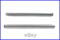 Chrome 41mm Fork Tube Set 24-1/4 Total Length, for Harley Davidson, by V-Twin