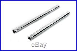 Chrome 41mm Fork Tube Set 26-1/4 Total Length, for Harley Davidson, by V-Twin