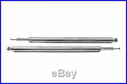Chrome Fork Tube Assembly Stock Length for Harley Davidson by V-Twin