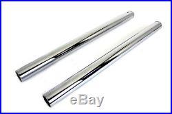 Chrome Fork Tube Set Stock Length, for Harley Davidson, by V-Twin