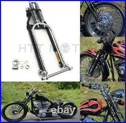 Chrome Springer Front End +4 Length For Harley Sportster Bobber Chopper Arc