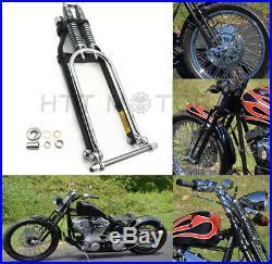 Chrome Springer Front End +4 Length For Harley Sportster Bobber Chopper Arched