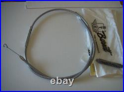 Extended Braided clutch cable Harley-Davidson 2006 & later Length 72 570520