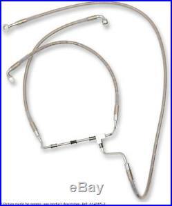 Extended length front stainless steel brake line kit HARLEY DAVIDSON GLIDE