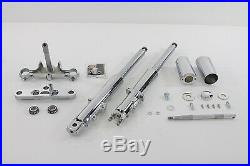 Fork Assembly with Chrome Sliders Stock Length, for Harley Davidson, by V-Twin