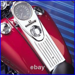 Full-Length-Style Chrome Ball-Milled Road King Dash Cover 1994-07 Harley FLHR