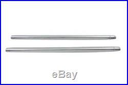 HARD CHROME 35mm FORK TUBE SET 23-1/4 TOTAL LENGTH VT 24-0016 HARLEY