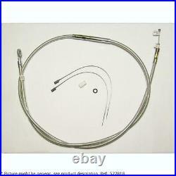 HARLEY DAVIDSON DYNA alt length cable de embrague de dos piezas de la natur