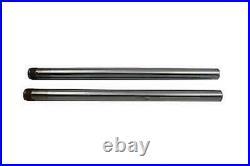 Hard Chrom 39mm Gabel Rohr Set 25 Total Length For Harley-Davidson
