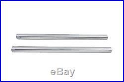 Hard Chrome 39mm Fork Tube Set 23-3/8 Total Length fits Harley Davidson, V-Tw