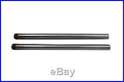 Hard Chrome 39mm Fork Tube Set 25 Total Length For Harley-Davidson