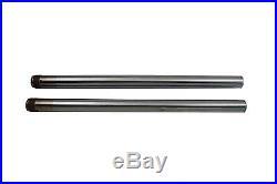 Hard Chrome 39mm Fork Tube Set 25 Total Length For Harley-Davidson Sportster