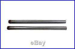 Hard Chrome 39mm Fork Tube Set 25 Total Length fits Harley Davidson, V-Twin 2
