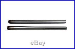 Hard Chrome 39mm Fork Tube Set 25 Total Length, for Harley Davidson, by V-Twin