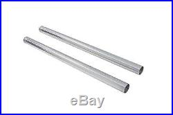 Hard Chrome 39mm Fork Tube Set 27 Total Length, for Harley Davidson, by V-Twin